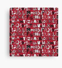 ABC red Canvas Print