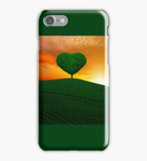 The green heart tree  iPhone Case/Skin