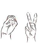 LOVE in ASL  by rmcbuckeye