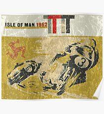 Isle Of Man TT race 1962 Poster