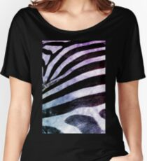 Zebra watercolor animal print Women's Relaxed Fit T-Shirt