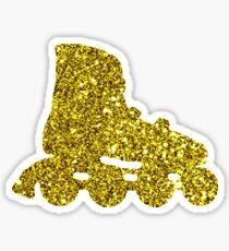 Golden Inline skate Sticker Sticker