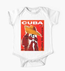 DELTA AIR LINES : Fly to Cuba Advertising Print One Piece - Short Sleeve