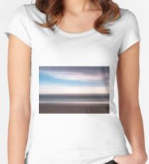Abstract Seascape Women's Fitted Scoop T-Shirt