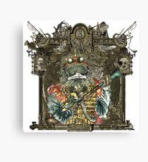 Steampunk Bird Sky Patrol with Awesome Frame Canvas Print