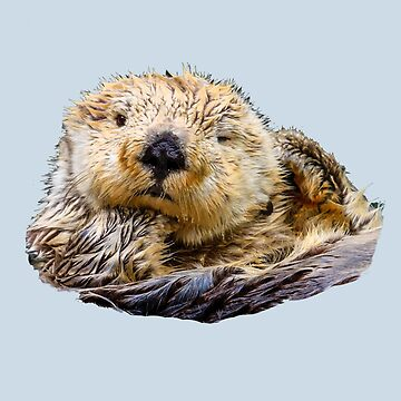 Sea Otter Who Me Surely not! by Dalyn