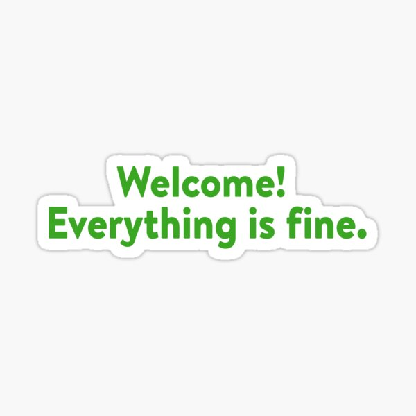 Welcome to the Good Place Sticker
