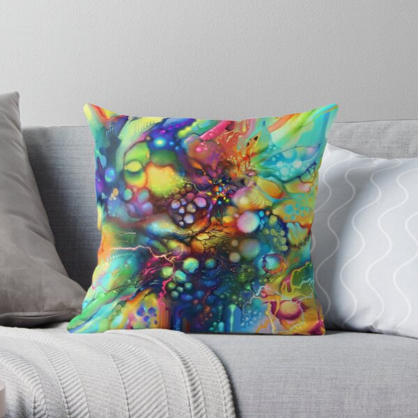 Post Mental Stains - Digital Painting Throw Pillow