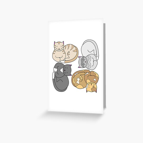 Sleeping Cats Greeting Card