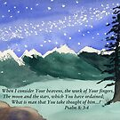 Awesome God -  Psalm 8: 3-4 by Diane Hall
