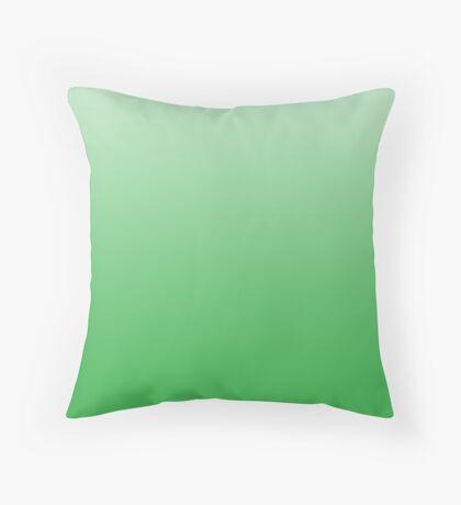 Intense Classic Green ombre Throw Pillow
