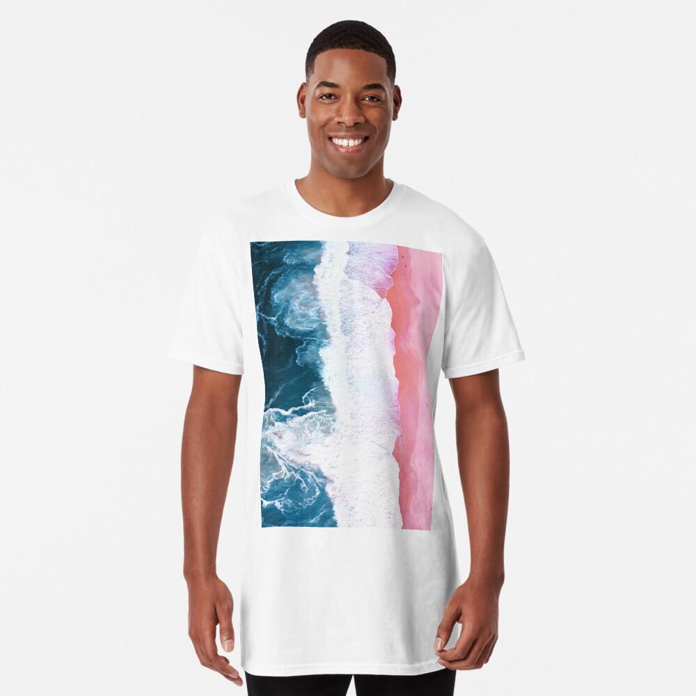 Aerial Beach, Ocean Waves Long T-Shirt