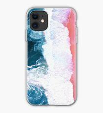Aerial Beach, Ocean Waves iPhone Case