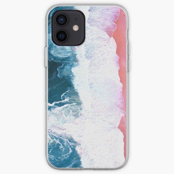 Aerial Beach, Ocean Waves iPhone Soft Case