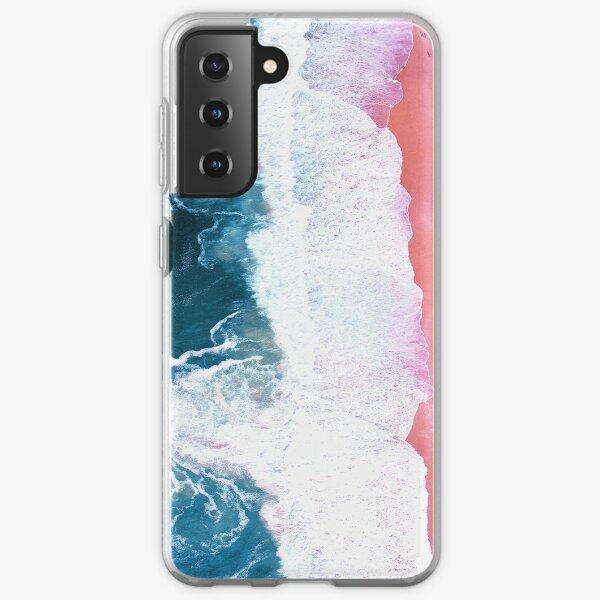 Aerial Beach, Ocean Waves Samsung Galaxy Soft Case
