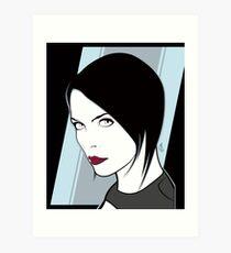 Female Spy Assassin  Art Print