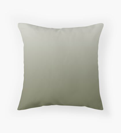 Earthy Mayfly green ombre Throw Pillow