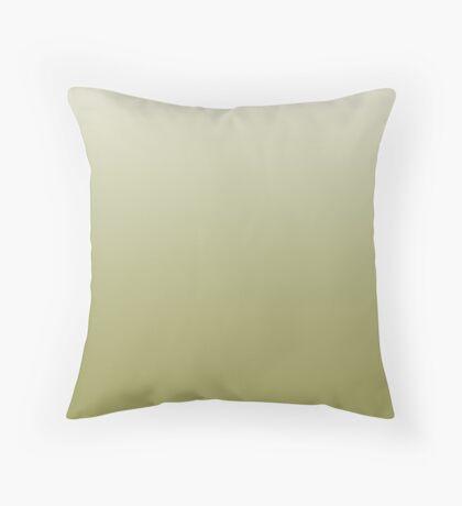 Earthy Moss green ombre Throw Pillow