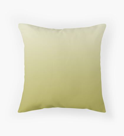 Earthy Lentil Sprout green ombre Throw Pillow