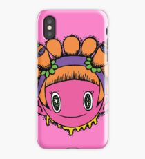 Kawaii Sunflower Girl iPhone Case
