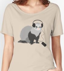 Funny Musical Ferret Women's Relaxed Fit T-Shirt