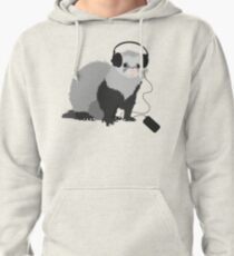 Funny Musical Ferret Pullover Hoodie