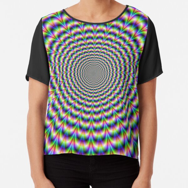 Psychedelic Pulse Chiffon Top