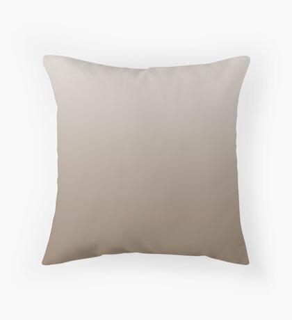 Creamy Sepia Tint ombre Throw Pillow