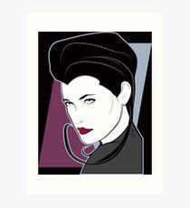 Female Sci Fi Spy Art Print