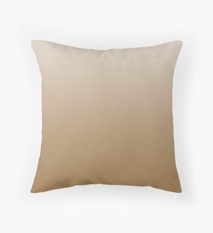 Bone Brown ombre Throw Pillow