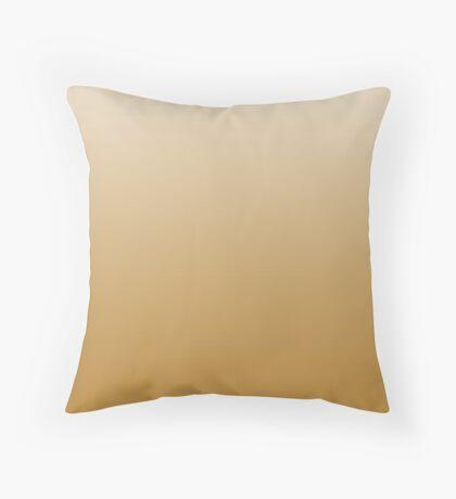 Bold Chai Tea brown ombre Throw Pillow