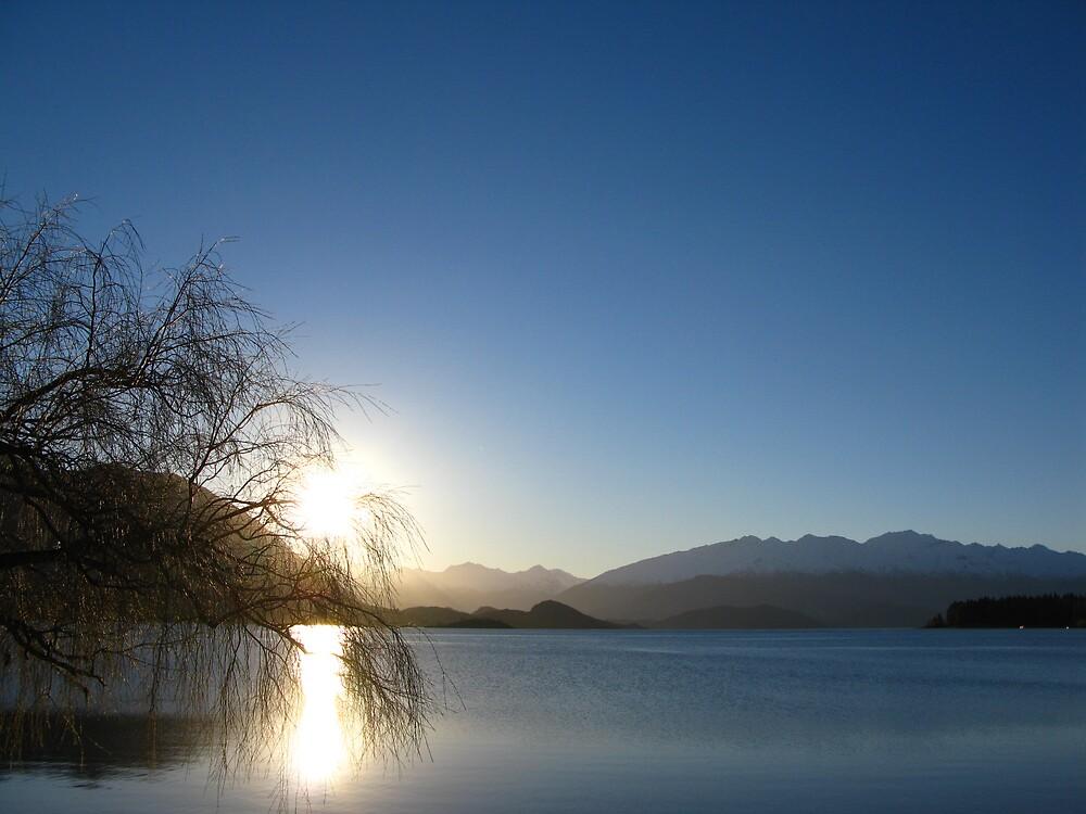 lake at sunset/dusk by jst123