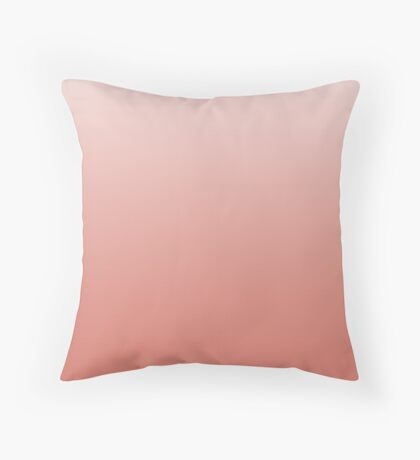 Dusty Crabapple pink ombre Throw Pillow