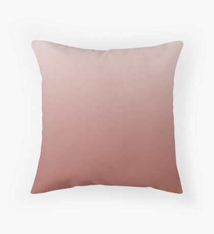 Deep Redwood red ombre Throw Pillow