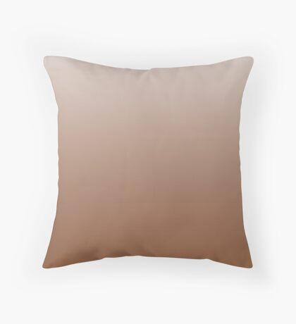 Rich Caramel Cafe brown ombre Throw Pillow
