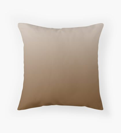 Deep Monks Robe brown ombre Throw Pillow