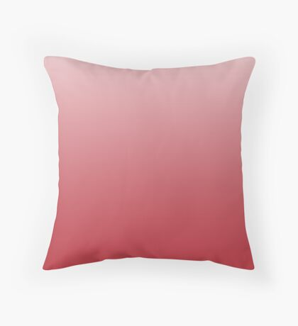 Dull Goji Berry red ombre Throw Pillow