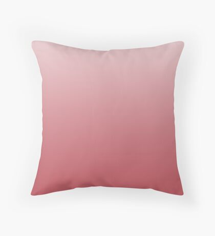Dusty Chrysanthemum pink ombre Throw Pillow