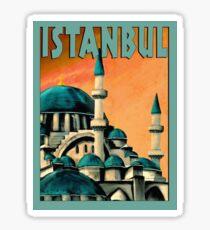 ISTANBUL : Vintage Turkish Travel Advertising Print Sticker