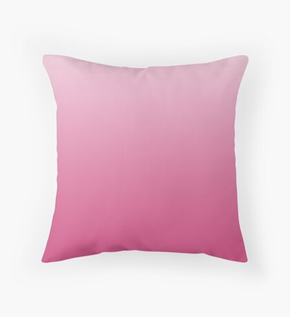 Dusty Pink Yarrow ombre Throw Pillow