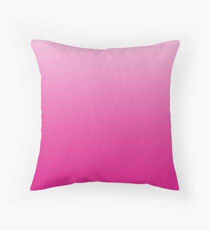 Hot pink ombre Throw Pillow
