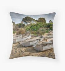 Freycinet Boats Throw Pillow