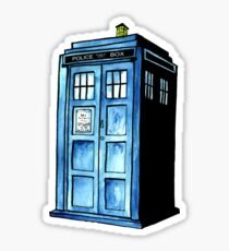 Blue Police Phone Box Sticker