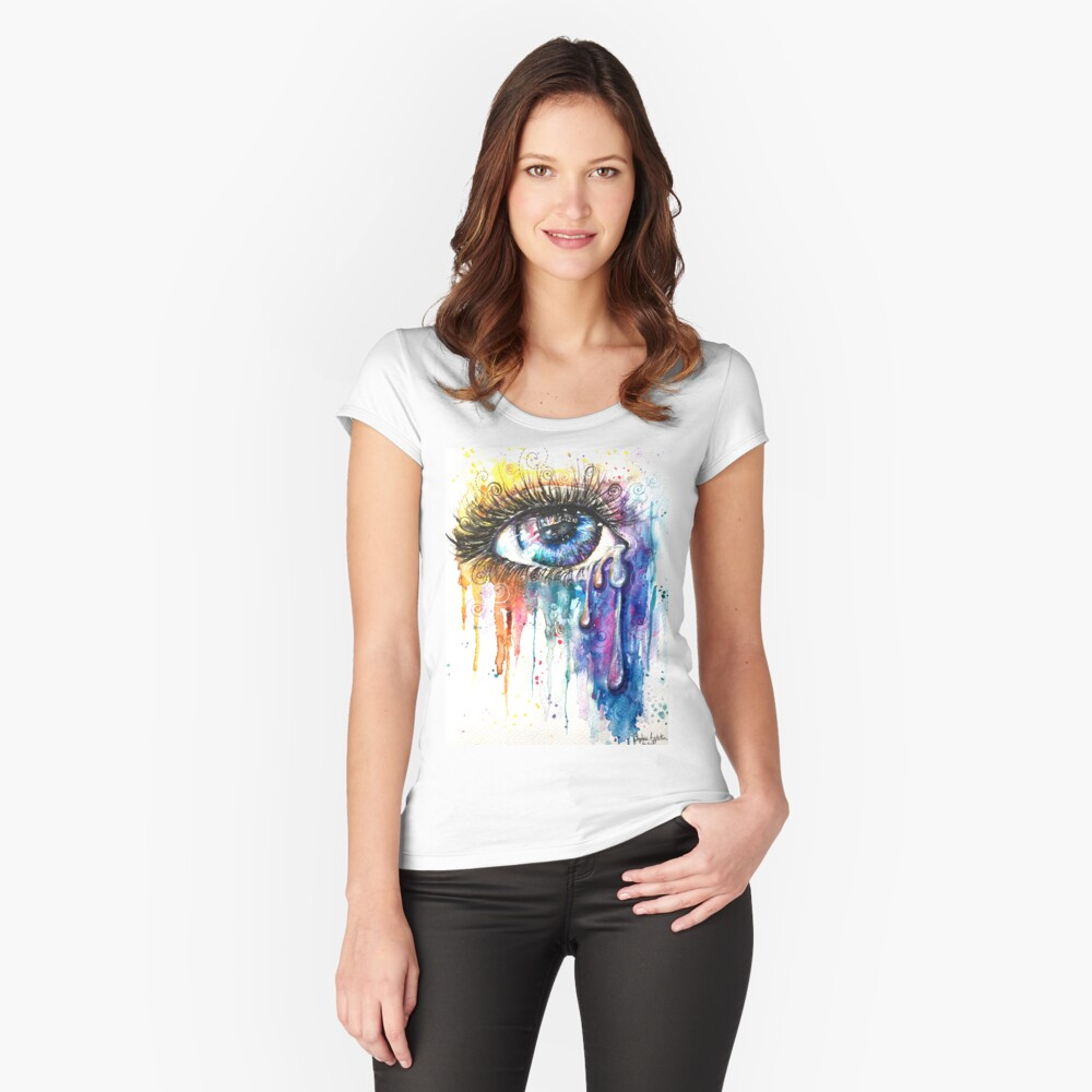 Eye Color Love Women's Fitted Scoop T-Shirt Front