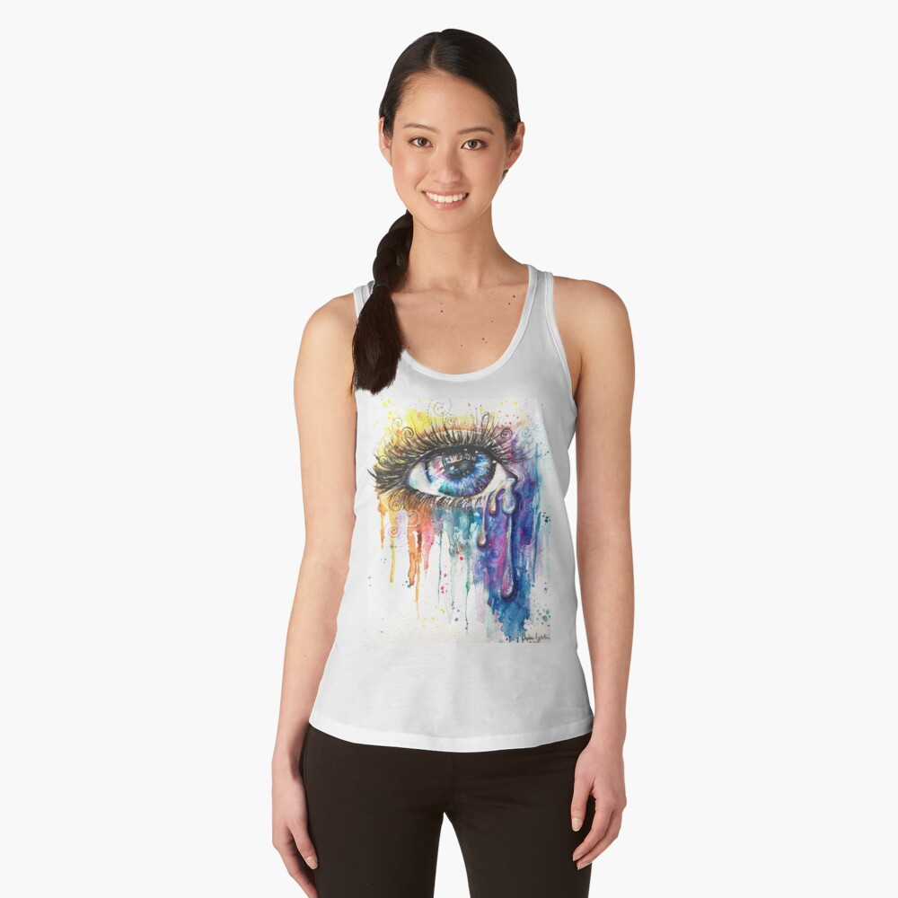 Eye Color Love Women's Tank Top Front