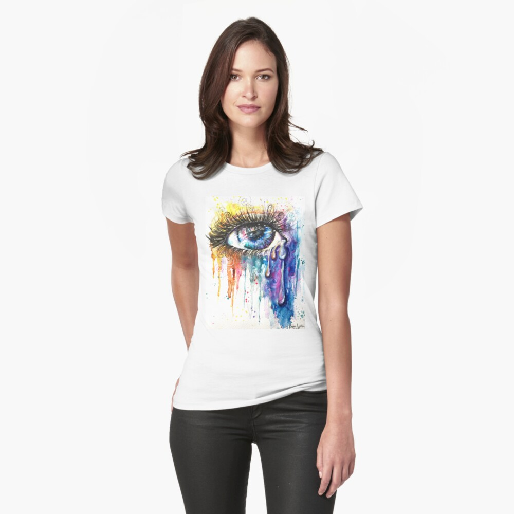 Eye Color Love Womens T-Shirt Front