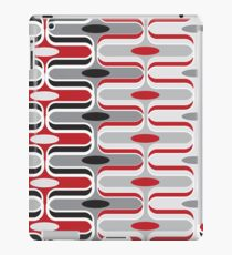 Retro Mod Ogee Red & Black Abstract Pod Pattern iPad Case/Skin