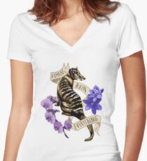 Thylacine's Lament Women's Fitted V-Neck T-Shirt
