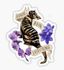 Thylacine's Lament Sticker