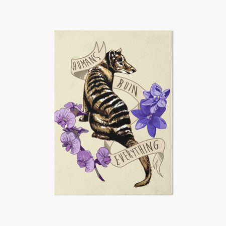 Thylacine's Lament Art Board Print
